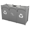 Triple Topload Bead Board Waste Bin 26 Gallon Capacity, 85548