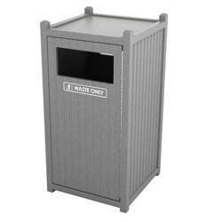 Single Sideload Bead Board Waste Bin 32 Gallon Capacity, 85558