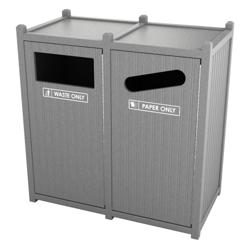 Double Sideload Bead Board Waste Bin 26 Gallon Capacity, 85556