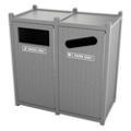 Double Sideload Bead Board Waste Bin 26 Gallon Capacity, 85556