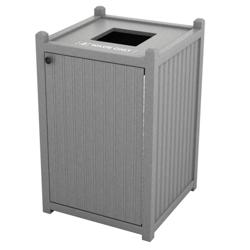 Single Topload Bead Board Waste Bin 26 Gallon Capacity, 85564
