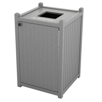 Single Topload Bead Board Waste Bin 32 Gallon Capacity, 85567