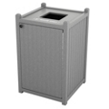 Single Topload Bead Board Waste Bin 26 Gallon Capacity, 85564