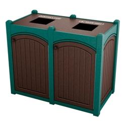 Double Topload Bead Board Waste Bin 26 Gallon Capacity, 85565