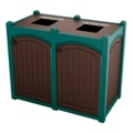 Double Topload Bead Board Waste Bin 26 Gallon Capacity, 85565