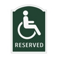 Reserved Handicapped Outdoor Sign, 91936