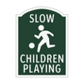 Slow Children Playing Outdoor Sign, 91938