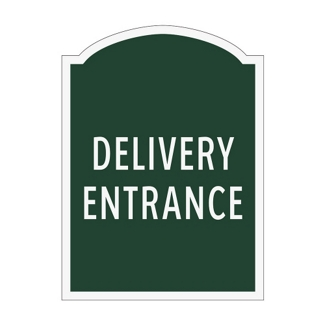 Delivery Entrance Outdoor Sign, 91943