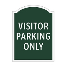 Visitor Parking Only Outdoor Sign, 91945