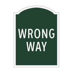 Wrong Way Outdoor Sign, 91954