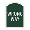 Wrong Way Outdoor Sign, 91954