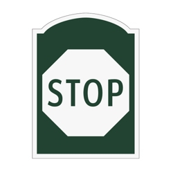 Stop Outdoor Sign, 91962