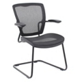 Articulating Back Mesh Guest Chair with Cantilever Base and Black Frame, 57008