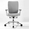 Mid-Back Mesh Ergonomic Computer Chair with White Frame, 57017