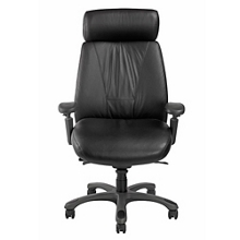Leather Executive Chair with Graphite Frame, 57127