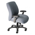 Fabric Ergonomic Chair with Graphite Frame, 57129