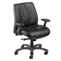 Leather Ergonomic Chair with Graphite Frame, 57131