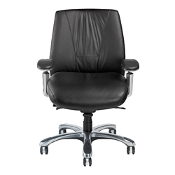 Leather Ergonomic Chair with Chrome Frame, 57132