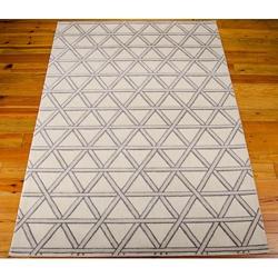 kathy ireland by Nourison Triangle Print Area Rug - 5.25'W x 7.42'D, 82180
