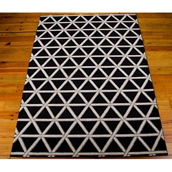kathy ireland by Nourison Triangle Print Area Rug - 7.75'W x 10.83'D, 82181