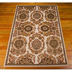 kathy ireland by Nourison Leaf and Floral Print Area Rug - 4.92'W x 7'D, 82189