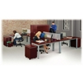 Reveal Compact L-Desk Office Set with Privacy Panels, 14348