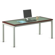 "Reveal Glass Top Desk 72""W x 30""D , 14743"