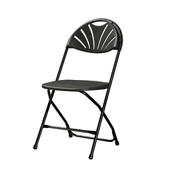 Fan Back Folding Chair with Plastic Seat and Back, 51019