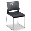 Centurion Plastic Stack Chair with Padded Seat, 51055