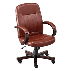 Burnham Faux Leather Conference Chair, 52406