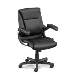 Faux Leather Petite Executive Chair With Flip Arms, 56568