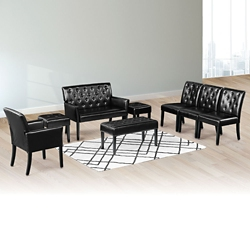 Roosevelt Tufted Faux Leather Reception Set, 76474