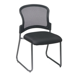 Sled-Base Mesh-Back Visitors Chair, 15497
