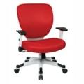 White Frame Fabric or Mesh Ergonomic Computer Chair, 56016