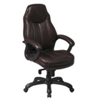 Plush Faux Leather Chair, 56723