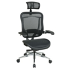 Mesh Office Chair with Cantilever Arms and Headrest, 57002