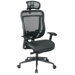 Mesh High Back Computer Chair with Headrest, 57003