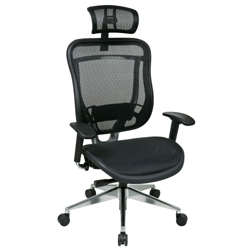 Mesh Executive Chair with Headrest, 57004