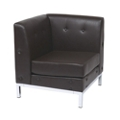 Faux Leather Corner Chair, 75197