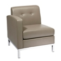 Left Single Arm Faux Leather Chair, 75352