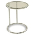 Round Glass End Table, 75941
