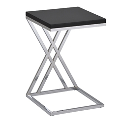 "Contemporary Chrome Frame Accent Table - 16""W, 76416"