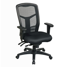 High-Back Mesh Chair with Seat Slider, 56848