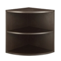 "Two Shelf Quarter-Round Bookcase - 23.5""W, 32184"