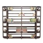 Wood Six-Shelf Folding Bookcase Wall Unit, CD02344
