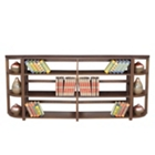 Wood Three-Shelf Folding Bookcase Wall Unit, CD02345