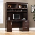 Computer Credenza with Glass Closed Storage Hutch, 13104