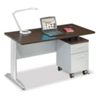 "Sector 60""W Single Pedestal Desk, CD06625"