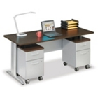 "Sector 72""W Double Pedestal Desk, CD06627"