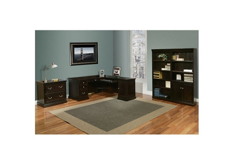 Espresso Compact L-Desk Office Suite, 13194